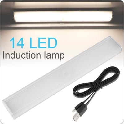 14 LED 800mAh Induction Cabinet Light USB Rechargeable Intelligent Portable PIR Motion Sensor Lamp Night Lights