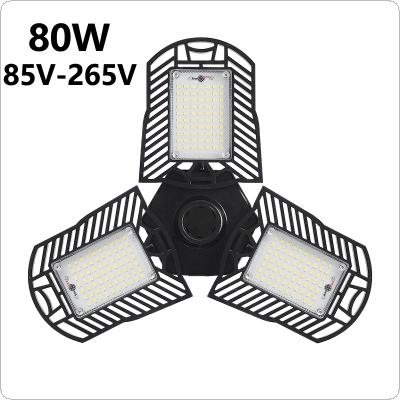 60W 6000LM E27 Radar Induction Deformable Garage Light Super Bright High Efficiency Industrial Lighting for Warehouses / Parking
