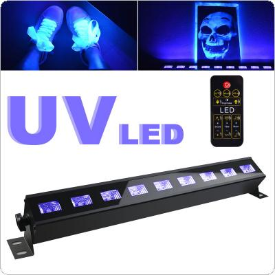9 UV LED Black Violet Stage Light with on/off Switch DMX512 Control for Christmas Indoor Stage Decoration / Party / Disco Club / Bar / KTV
