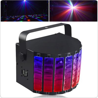 15W Black 9 Colors LED Flash Stage Light Crystal Magic Ball Support Auto / Voice / Remote / DMX512 Control for KTV / Disco / Bar / Concert