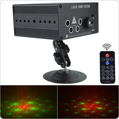 3W DC12V 120 Patterns Mini Laser LED Light Stage Light with 5 Light Holes Support Manual / Remote Control for KTV / Bar / Party