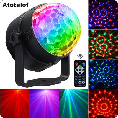 3W 50-60MHz Colorful Light Rotating LED Stage Light Mini Crystal Ball USB Charging Support Voice Control / Remote Control for Christmas Party / Festival