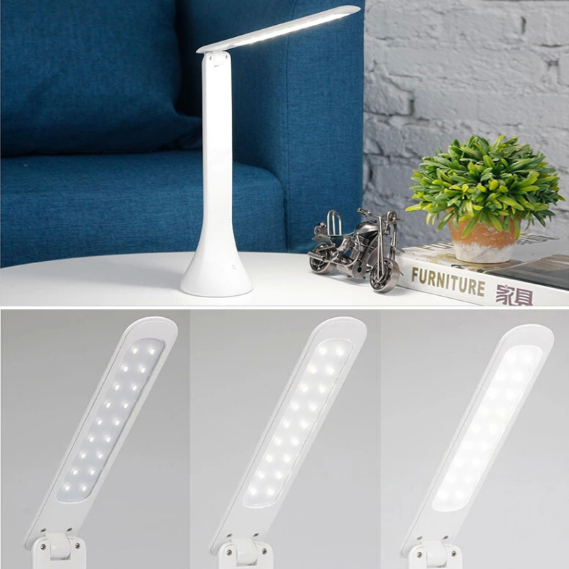 Eye Protection Reading Light Foldable Touch Switch LED Table Lamp DC 5V USB Charging Port Three gear Dimming Night Lamp