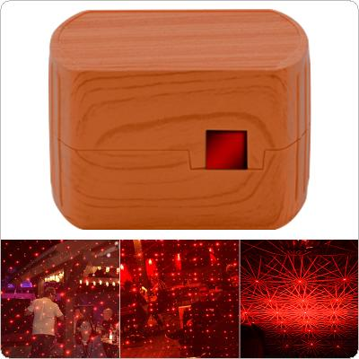 5V 100MW USB Voice Control Wood Grain Decoration Laser Lamp Roof Star Projector Lights with Dynamic Rotating Starry Sky Night Light Effect for Car Decoration
