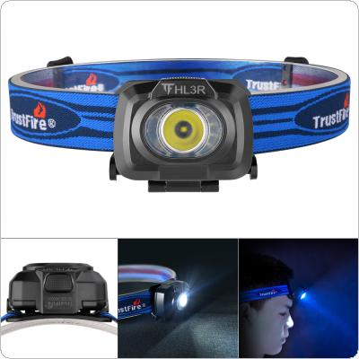 TrustFire HL3R Waterproof Blue 200 Lumens 3 Modes Lights Headlamp with Micro USB Charging Support Beam Throw Up to 50 Meters for Reading / Running / Hiking