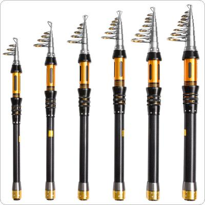 1.5m 1.8m 2.1m 2.4m 2.7m 3.0m Carbon Fiber Telescopic Fishing Rod Short Sea Rods Ultra Light Travel Spinning Lure Pole