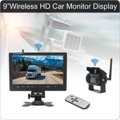 9 Inch Wireless Rear View Camera System  TFT LCD Monitor + Waterproof Night Vision Camera for Bus Truck Boat Security Surveillance System