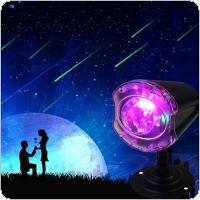 RGBW LED Light Meteor Rain Stage Light Waterproof Outdoor Lawn Courtyard Lamp with Remote Control for Christmas / Halloween / Festivals / Decoration