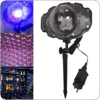 RGBW LED Mini Snow Light Stage Light Spotlight Laser Light for Christmas / Halloween / Festival / Indoor / Outdoor / Decoration
