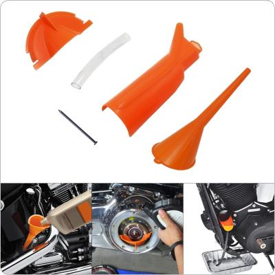 Motorcycle Oil Filter Set Funnel Cover ABS Gear Funnel Guide Tube Motorcycle Universal Accessories
