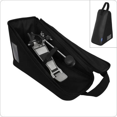 Bass Drum Pedal Bag PU Leather Sponge Portable Jazz Drum Pedal Storage Case
