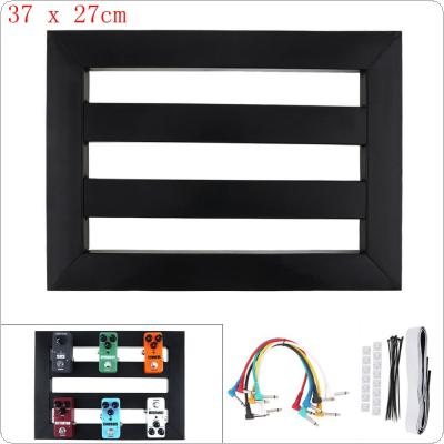 37 x 27cm Guitar Pedal Board Setup Style DIY Guitar Effect Pedalboard with 6pcs 22cm Patch Cable