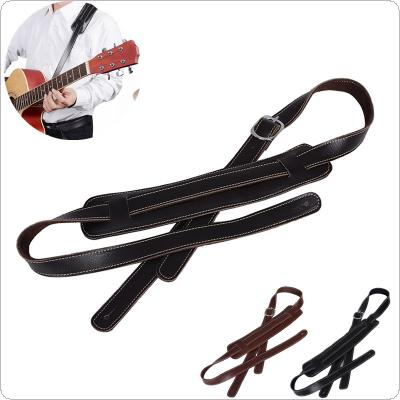 Adjustable Genuine Leather Cowhide Guitar Strap for Acoustic Electric Guitar Bass