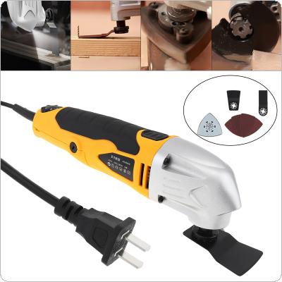 280W 220V 6-speed Hand-held LED Multi-function Electric Trimming Oscillating Machine Cutting Tool for Woodworking / Polishing / Trepanning