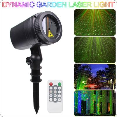 WL-502 Waterproof LED Outdoor Dynamic Lawn Lamp Star Projector Laser Light with RF Remote Control for Christmas / Holiday Party / Garden Decoration Lighting