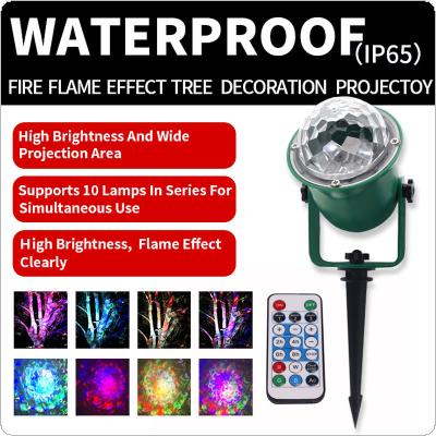 WL-807 Waterproof Green Tree Light with Remote Control Flame Effect Decorative Outdoor Crystal Ball Light for Wedding / Birthday / Festival / Bars