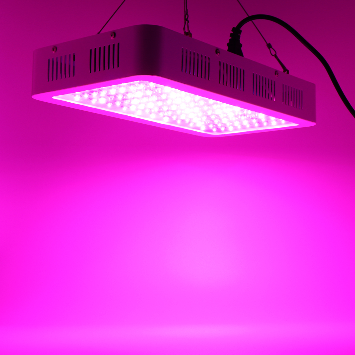 120 LED Plant Grow Light 1200W Full Spectrum Sunlike Plant Light Dual Chip with ON/Off Switch for Indoor Plants / Seedling / Succulents / Growing / Blooming