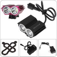 Red / Black Security 1200 Lumens 2x XM-L U2 LED Bicycle Light & 4000mAh Battery Pack
