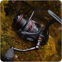 2000-7000 Series Full Metal Black & Red Spool Spinning Reel 18KG Max Drag Sea Carp Fishing Wheel