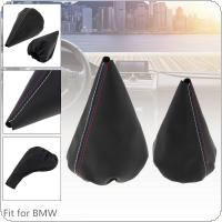 PU Leather Car Manual Gear Stick Shift Collars Lever Knob Gaiter Dust Cover Car Accessories Fit for BMW 3 Series E36 E46 M3
