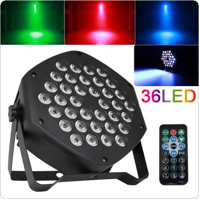 20W Single Color 36 x LED Par Light with Voice Control / Self-propelled / DMX / Master-slave / Wireless RF Remote Control for Small Party / KTV / Wedding