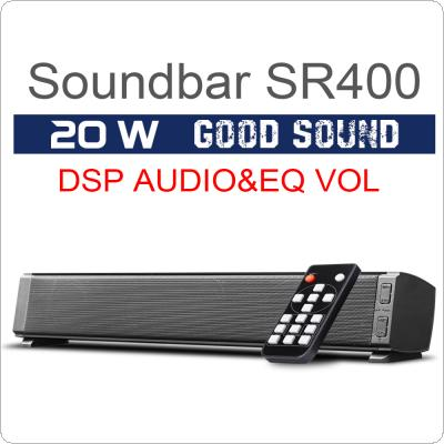 SR400 20W Bluetooth Soundbars Speaker with 2 x 52mm Horns Stereo TF Subwoofer Column Support Handsfree 2 Sound Effects QE Treble / Bass Adjust for CP / TV