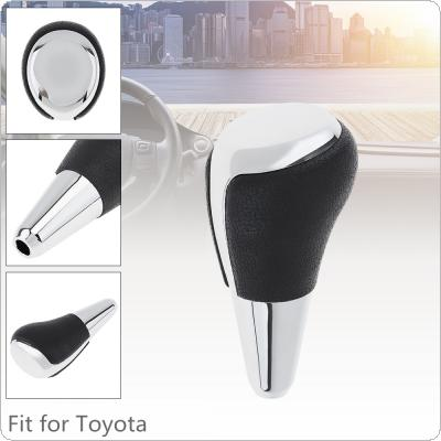 ABS Black + Silver Finish Silvery Car Automatic Transmission Gear Shift Shifter Lever Knob Car Accessories  Fit for  Toyota RAV4