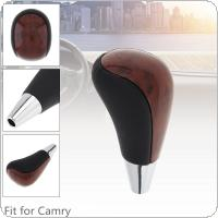 ABS  Black + Wood Grain  Car Automatic Transmission Gear Shift Shifter Lever Knob Car Accessories  Fit for Toyota / FORTUNER / Corolla / Camry /  HARRIER / Land