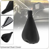 Universal Leather  Car Manual Gear Stick Shift Collars Lever Knob Gaiter Dust Cover