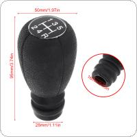 5 Speed ABS Black  Car Manual Gear Shift Handball Knob Car Accessories Fit for  Xantia C2 C3 C4  / Peugeot 207 / Citroen / Xsara
