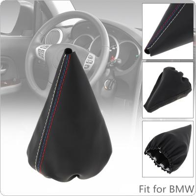 Leather  Car Manual Gear Stick Shift Collars Lever Knob Gaiter Dust Cove Fit for BMW 3 Series E36 E46 M3