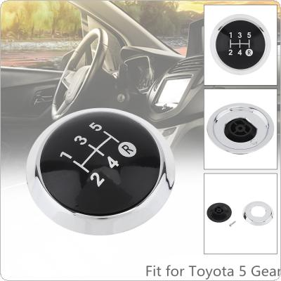 5 Speed  Manual Styling ABS Gear Shifter Shift Lever Knob Stick Handball Head Cover Fit for TOYOTA Corolla 1.8MT 2007-2013 / RAV4 AVENSIS YARIS D4D URBAN