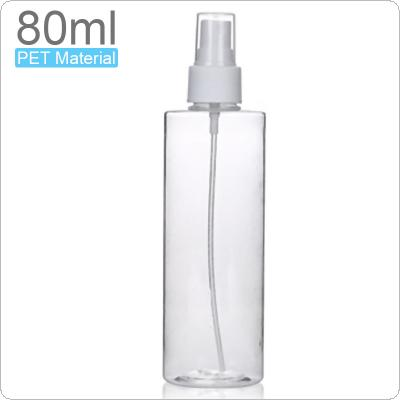 80ML Refillable Bottles Plastic Small Spray Bottle Portable Transparent Travel Cosmetic Container Mini Perfume Bottle Toxic-free