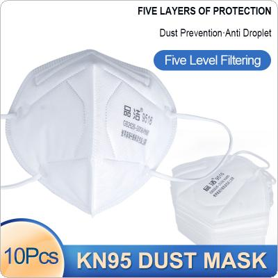 10 Pcs/Lot KN95 Dust-proof Face Masks 95% Filtration Anti-fog 5-layer PM2.5 Filter Protective Mask Features as KF94 FFP2