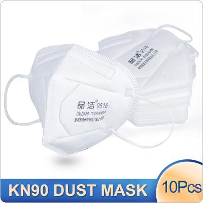 10 Pcs KN90 Dust-proof Face Masks Protective Anti-bacterial Anti Infection N90 Mouth Mask PM2.5 Pollution Filter Health Care