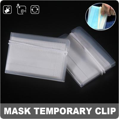1 Piece Face Mask Storage Box Folder Foldable  Portable Temporary Protect Masks