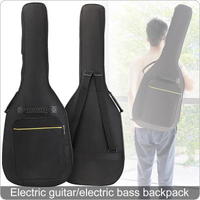 Electric Guitar Bass Backpack 8mm Sponge Waterproof Oxford Fabric Portable Guitar Bass Gig Bag