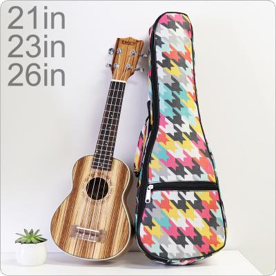 21 / 23 / 26 Inch Colorful Portable Ukulele Bag 10mm Sponge Soft Case Gig Ukulele Mini Guitar Waterproof Backpack