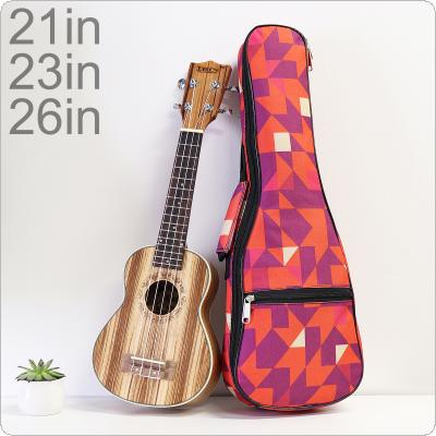 21 / 23 /26 Inch Red Portable Ukulele Bag 10mm Sponge Soft Case Gig Ukulele Mini Guitar Waterproof Backpack