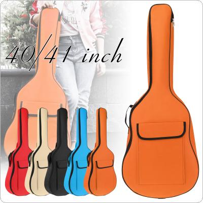 40 / 41 Inch Universal Acoustic Guitar Bag 8mm Sponge Thicken Oxford Fabric Portable Double Straps Guitar Soft Gig Case Waterproof Backpack