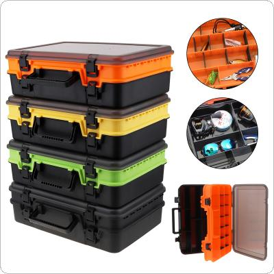 39cm x 28cm x 12cm Multifunction Double Sided Thicken Portable Large Fishing Tackle Boxes Fishing Reel Line Lure Tool Storage Box