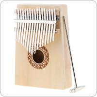 17 Key Kalimba Spruce Wood Thumb Piano Mbira with Tuning Hammer