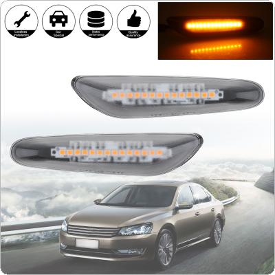 2pcs Dynamic Flowing LED Turn Signal Side Marker Light Blinker Sequential Lamp Fit for BMW E60 E61 E90 E91 E81 E82 E88 E46 X3 X1