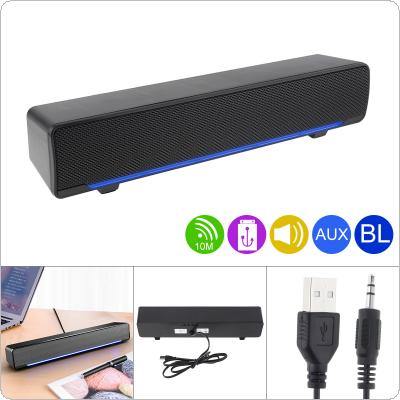 SADA V-196 Bluetooth  Strip Speaker Wireless Desktop Multi-media Sound Bar with Dual Speaker DSP and Mixing Sound for Household / Office
