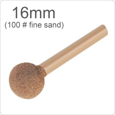 1 Piece 6 Handle Brazed Diamond Grinding Head 16mm 100# Fine Sand Stone Carving Ball-Shaped for Polishing Metal / Wood / Tool Rotary / Tools