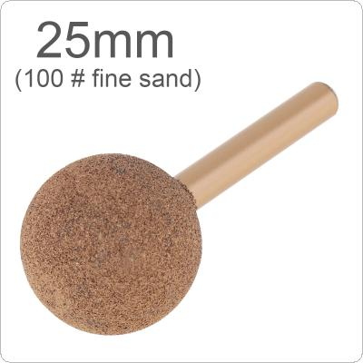 1 Piece 6 Handle Brazed Diamond Grinding Head 25mm 100# Fine Sand Stone Carving Ball-Shaped for Polishing Metal / Wood / Tool Rotary / Tools