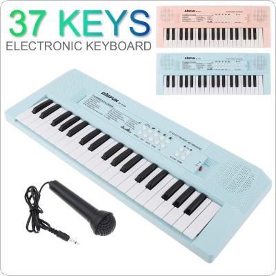 37 Keys Electronic Keyboard Piano Digital Music Key Board with Microphone Children Gift  Musical Enlightenment Blue and Pink Optional