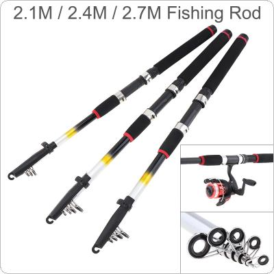 2.1m 2.4m 2.7m Glass Fiber Telescopic Fishing Rod Sea Pole Travel Sea Rock Rods