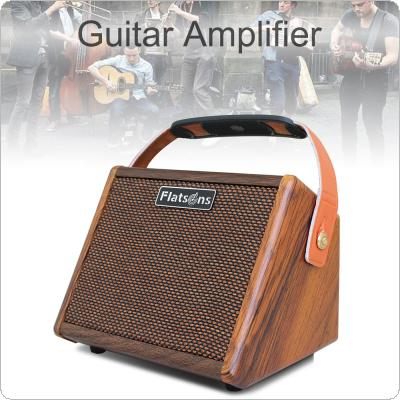 15W Portable Acoustic Guitar Amplifier Mini Singing Amp Bluetooth Speaker Built-in Rechargeable Battery with Microphone Interface Reverb Effect