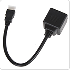 0.3M 1 HDMI Male to 2 Female Audio Video Splitter Fit for Wii / HDTV / DVD / PS3 / PSP